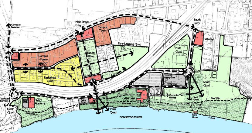 Hartford Hospital Campus Map.Goodwin College Campus Master Plan East Hartford Ct Waterfront